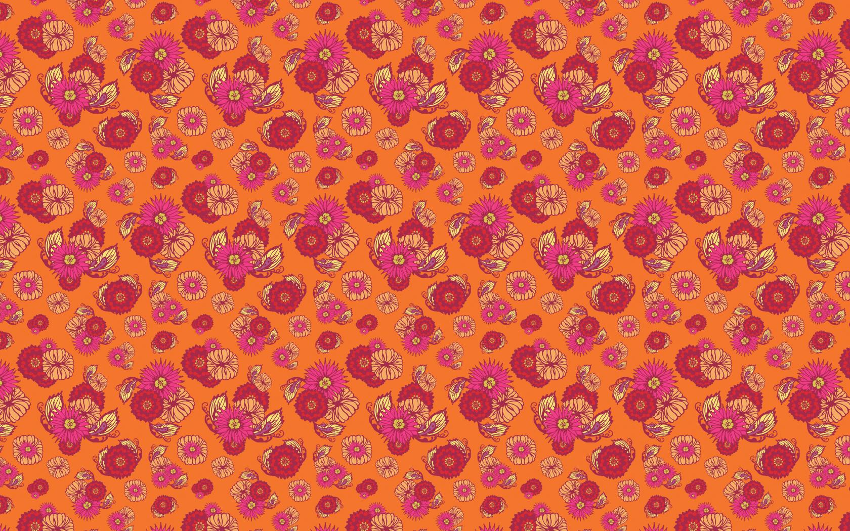 Pattern Design Scattered Floral 1680x1050