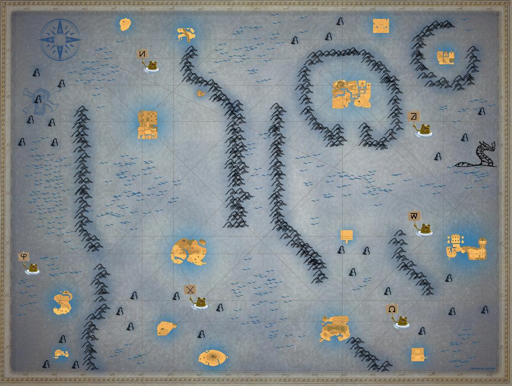 Phantom Hourglass Full Sea chart Large by zantaff 1029x777