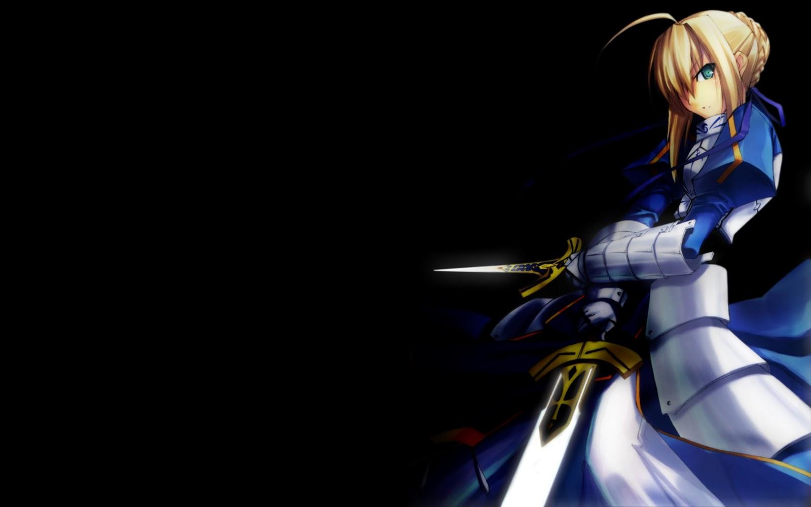 Fate Zero Saber Fate StayNight Anime Girl Sword Armor HD Wallpaper 1600x1000