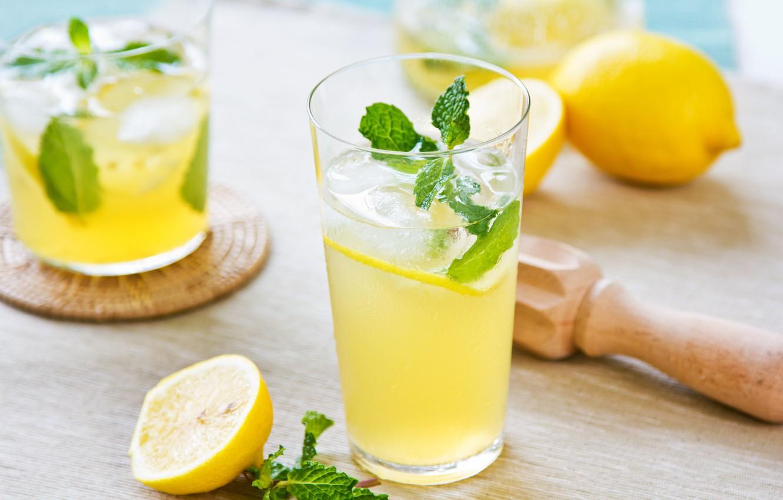 Wallpaper glass lemon drink mint lemonade images for desktop 1332x850