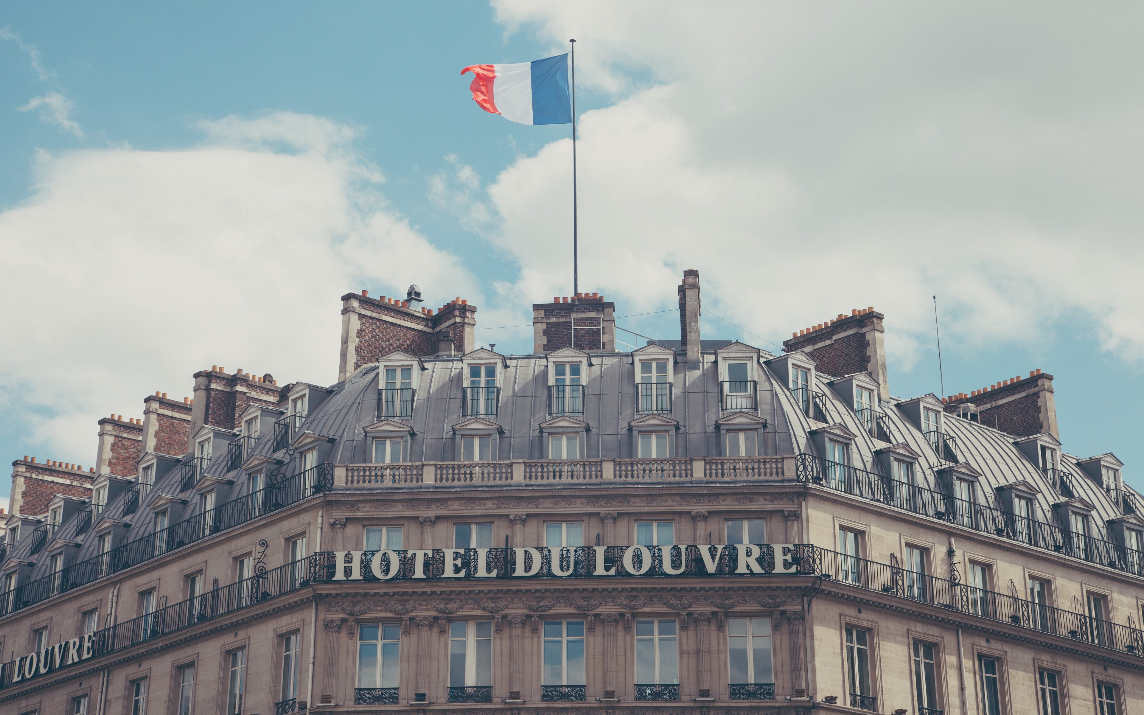 Download wallpaper 3840x2400 paris france hotel hotel du louvre 3840x2400
