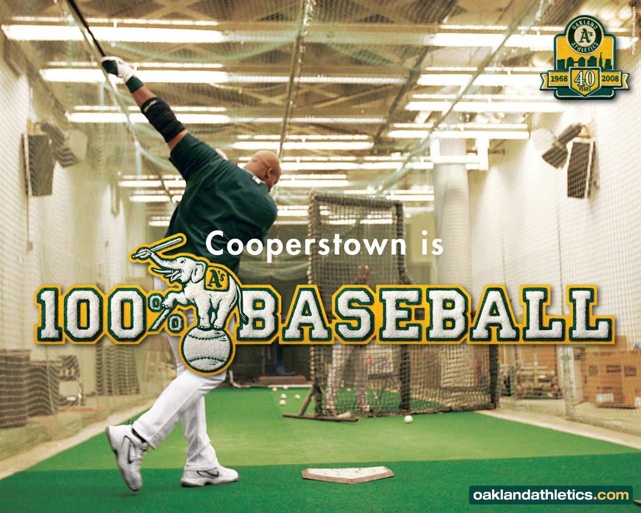 Download Oakland Athletics wallpaper Oakland Athletics Cooperstown 1280x1024