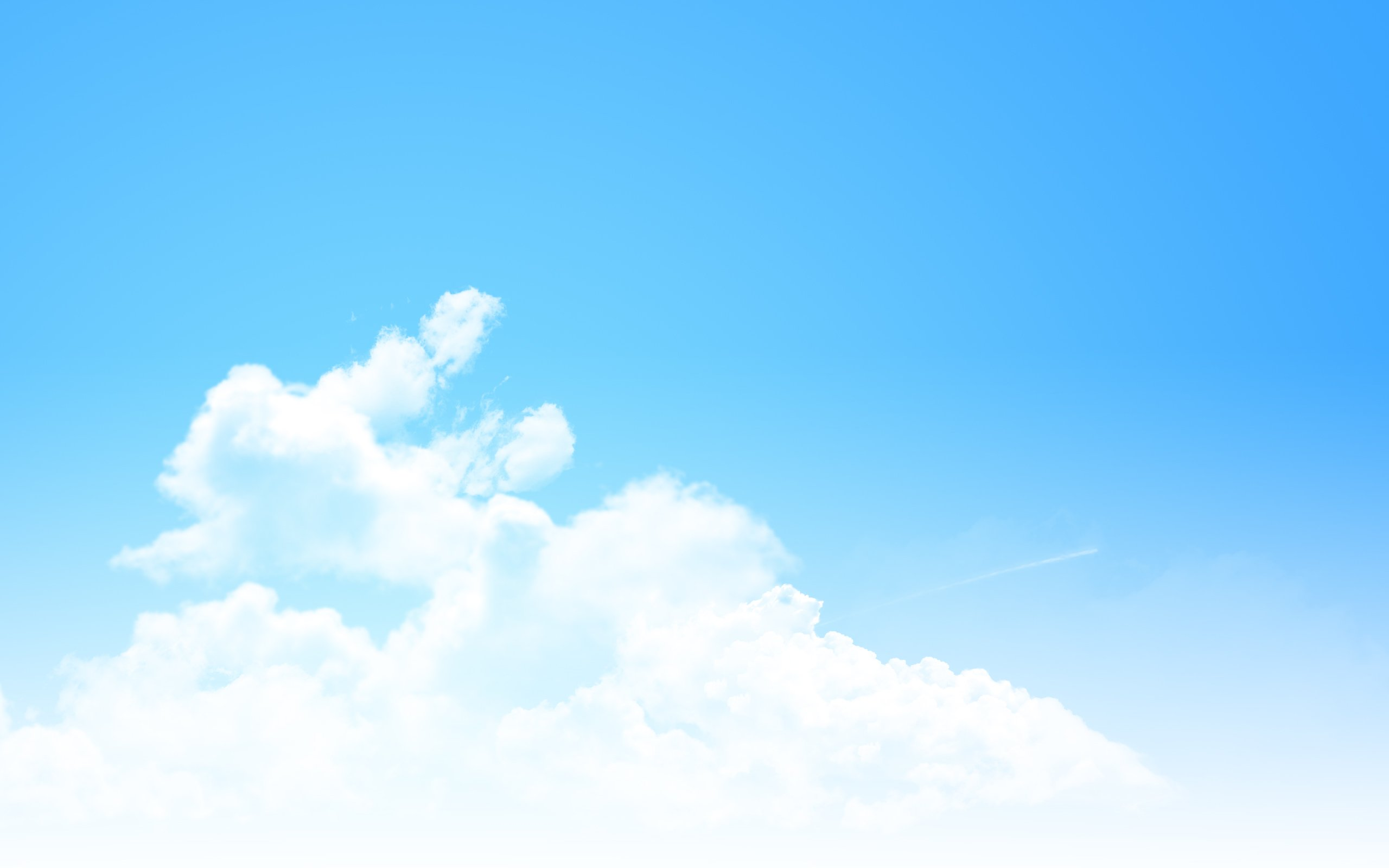 Blue Sky Desktop Wallpaper - WallpaperSafari