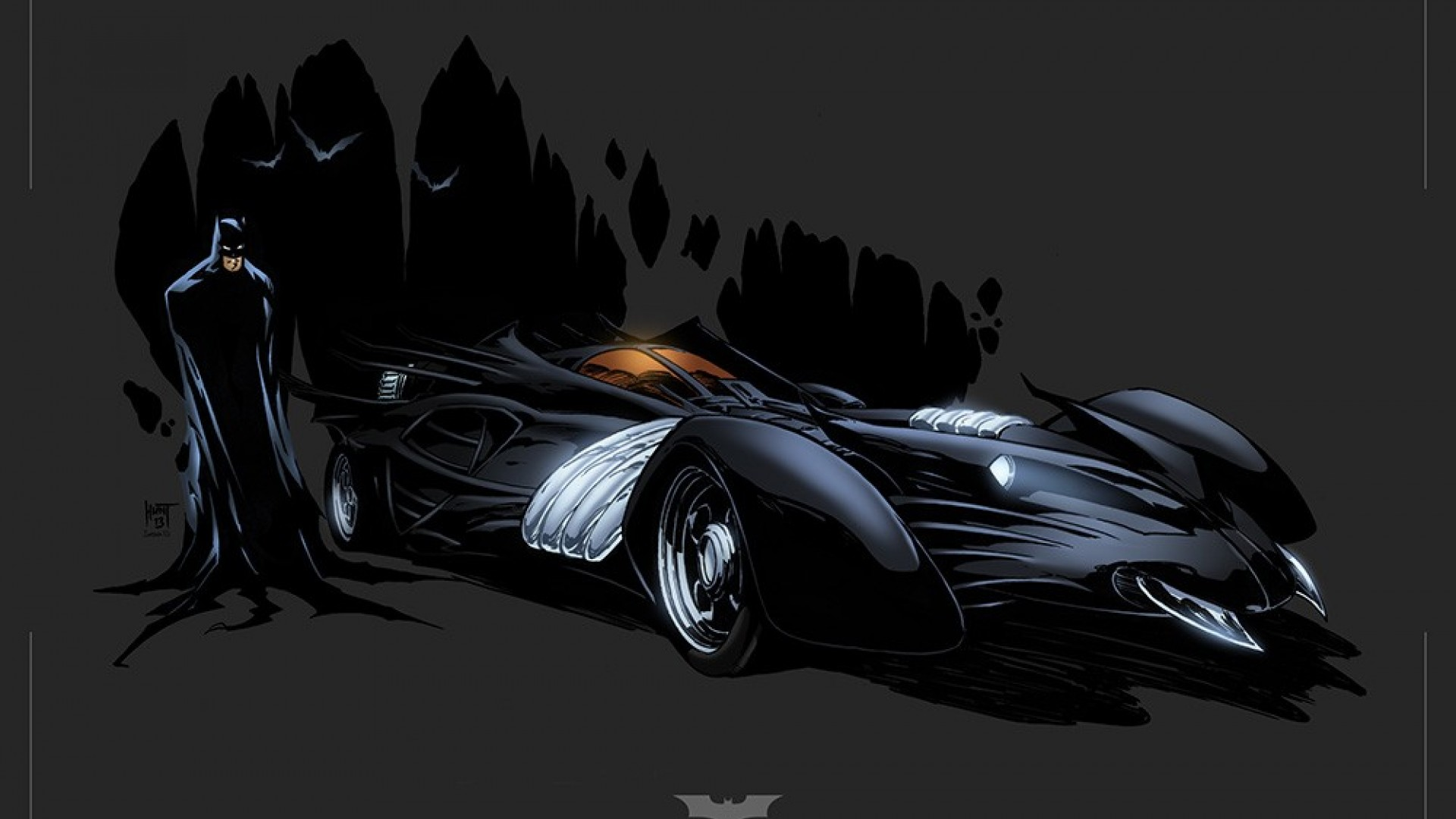 Tim Burton Batmobile Wallpaper Quality Images iPhoto Pick 1920x1080