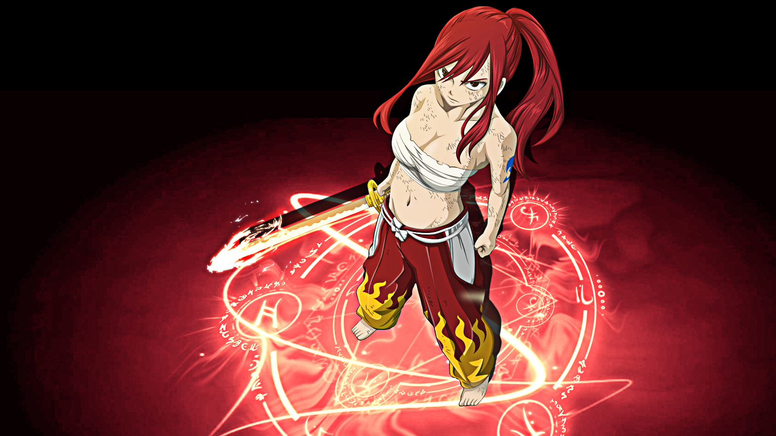 Erza Scarlet Anime Girl 0g Wallpaper HD 1600x900