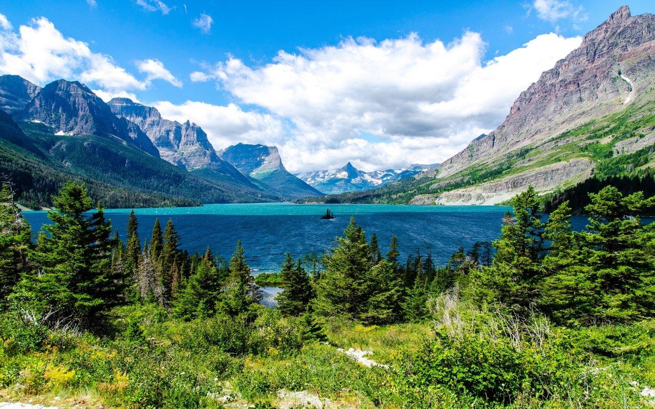 Saint Mary Lake Glacier National Park Wallpapers HD Wallpapers 1280x800