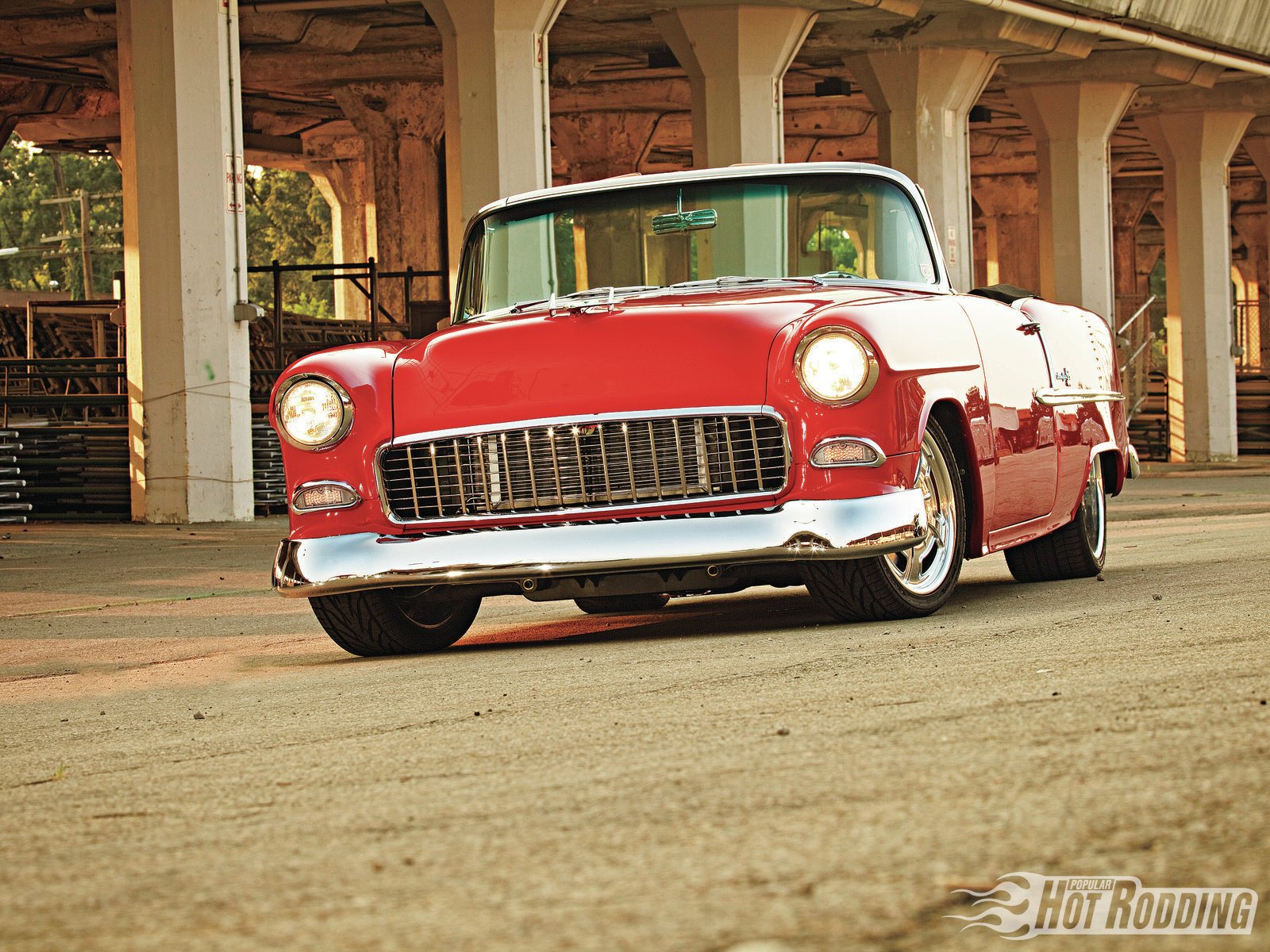 1955 Chevy Bel Air hot rods classic chevrolet wallpaper 1600x1200 1600x1200