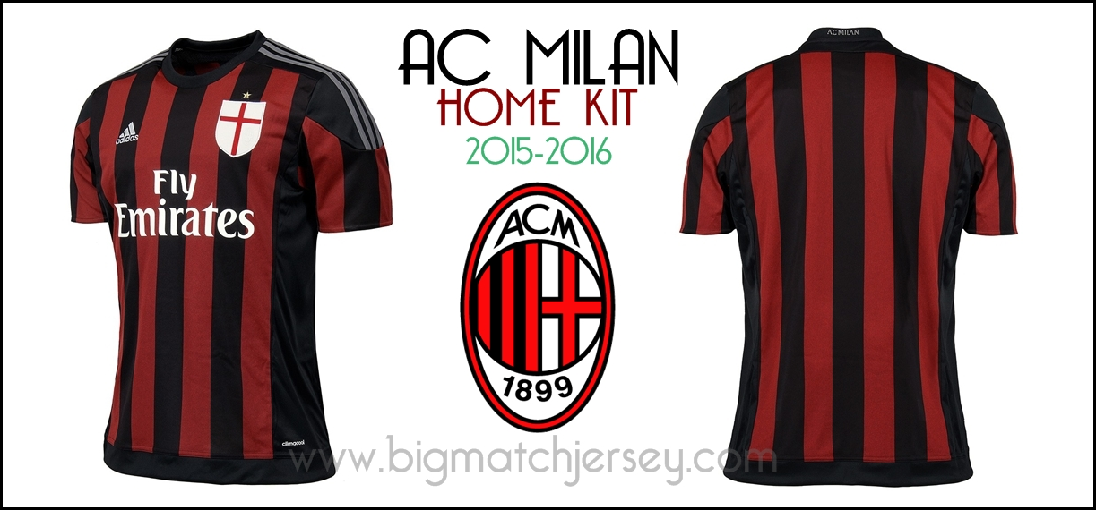 home 2015 2016 ac milan home kit official 2015 2016 1223x570