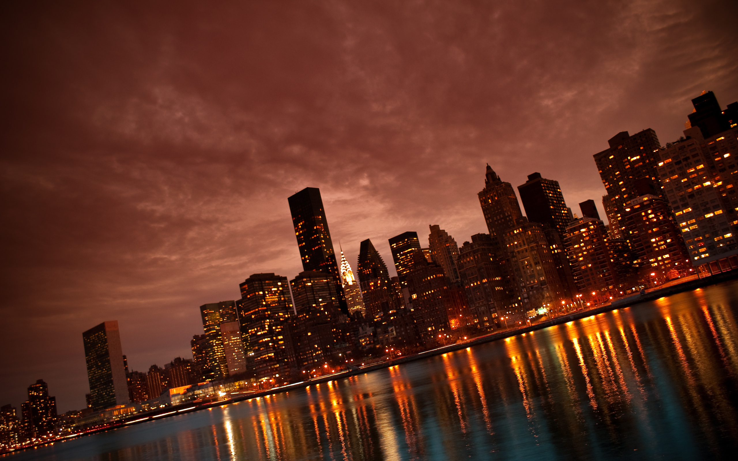 NYC Amazing images Manhattan NYC Reflections HD wallpaper and 2560x1600