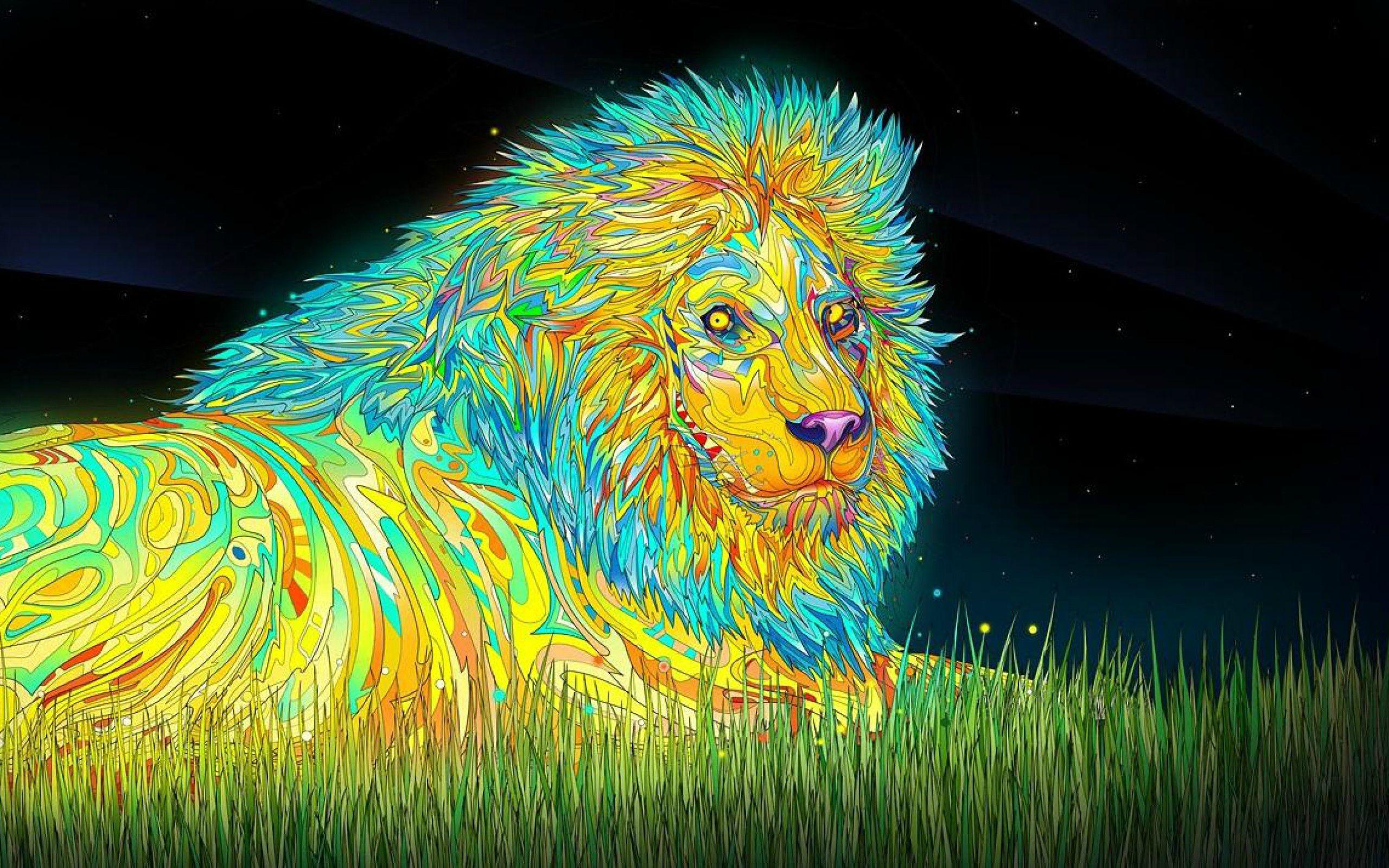 trippy lion   Imgur 2560x1600