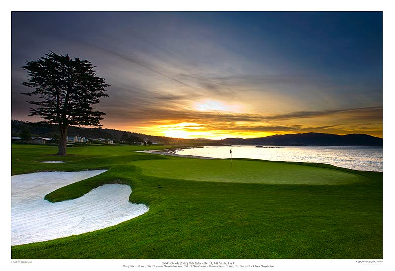 18th hole pebble beach wallpaper wallpapersafari for Pebble beach collection