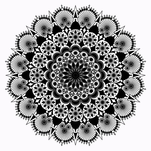 Mandala black and white Mandala drawing black and white 600x599