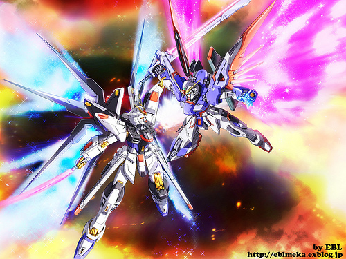 Strike Freedom Gundam vs Destiny Gundam Wallpaper Flickr   Photo 500x375