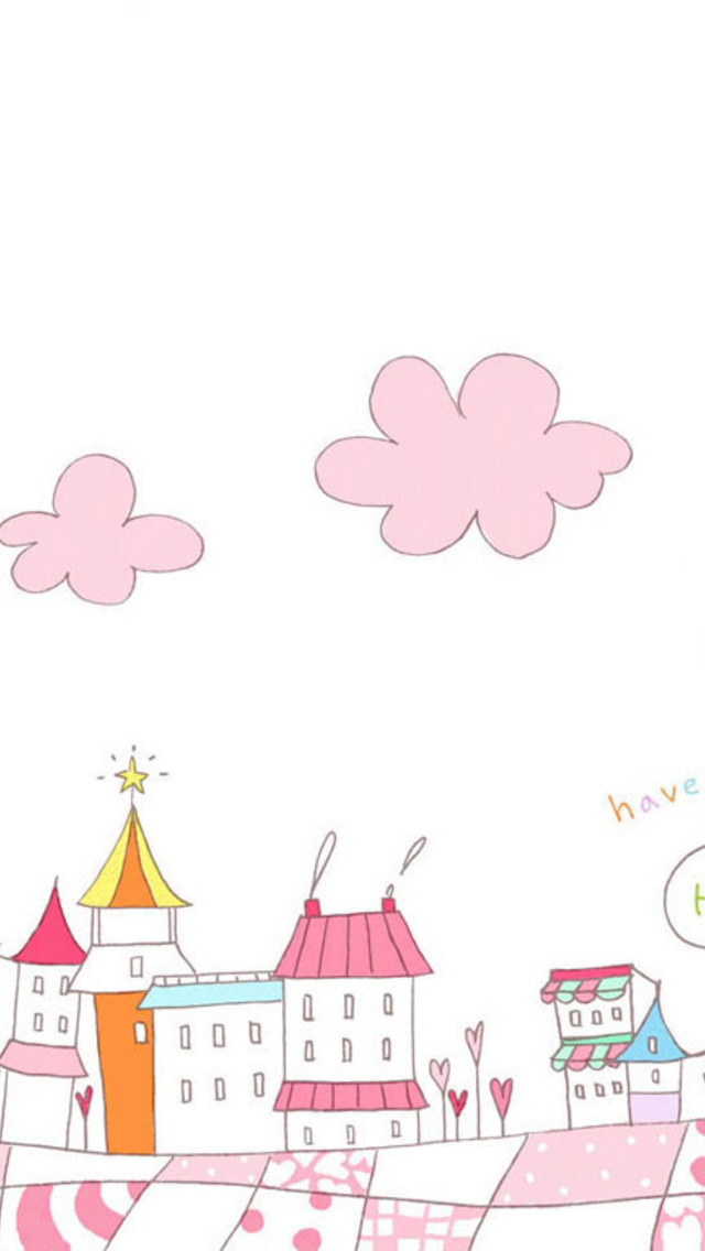 Free Download Pink Town Cute Wallpaper For Iphone 5
