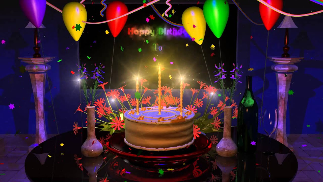 Groovy Free Download Magical Cake Animated Happy Birthday Song 1280X720 Personalised Birthday Cards Epsylily Jamesorg