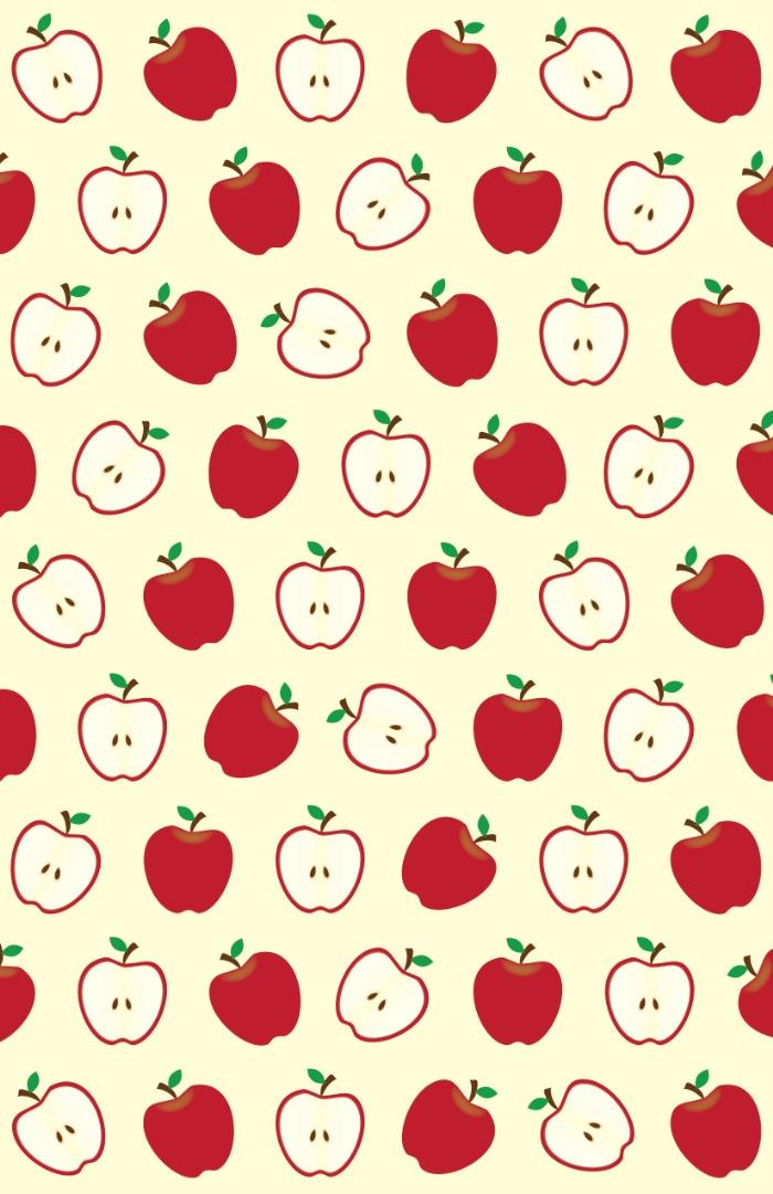 Cute Apple Picture Pattern uploaded by Naty on We Heart It 700x1081