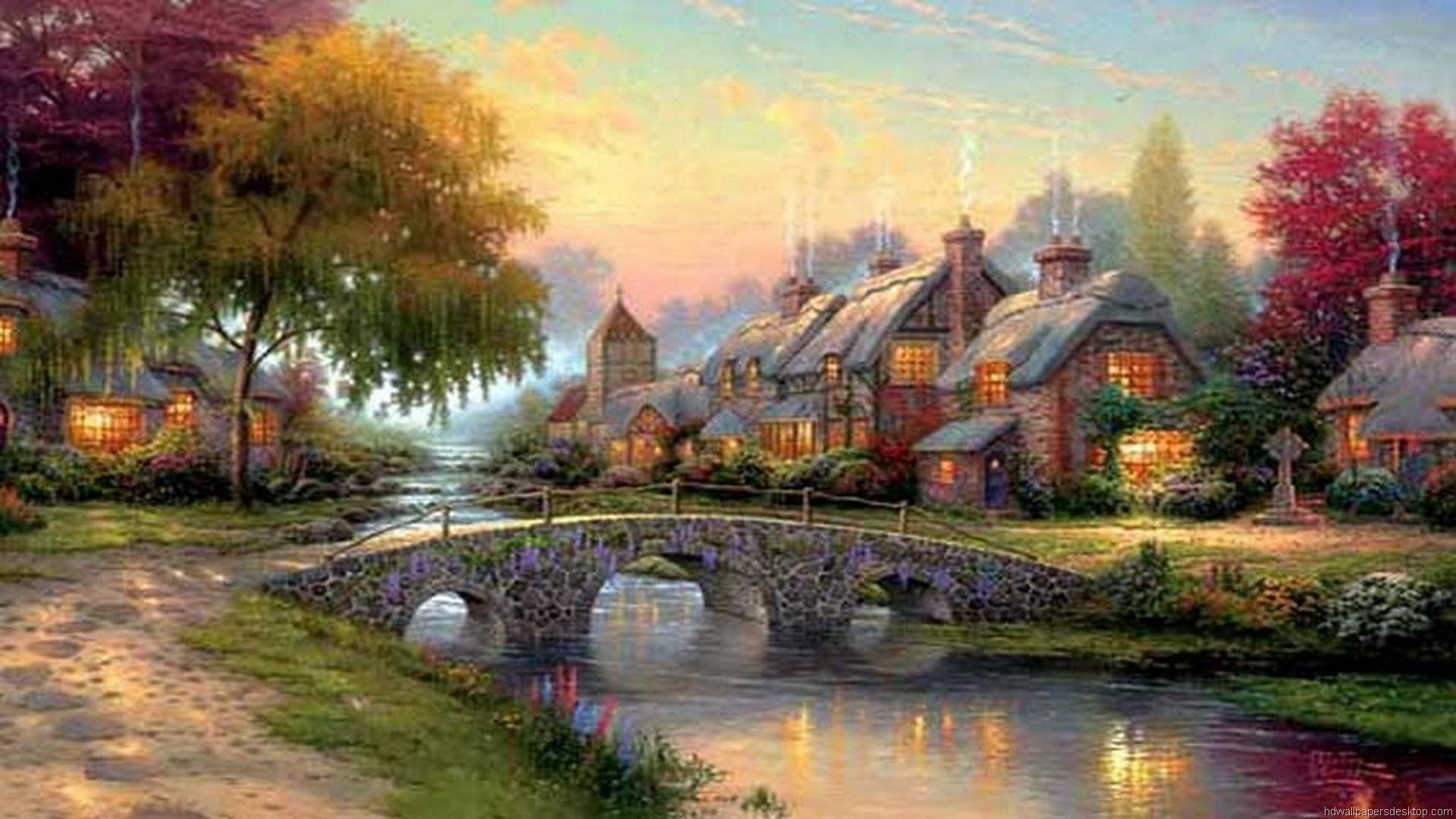 Art By Thomas Kinkade Disney   Freequotesclubcom 1920x1080