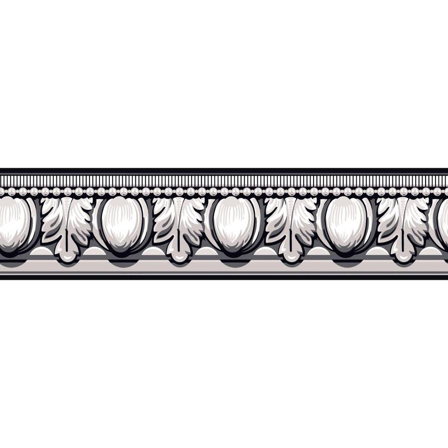 12 in Black White and Gray Prepasted Wallpaper Border at Lowescom 900x900