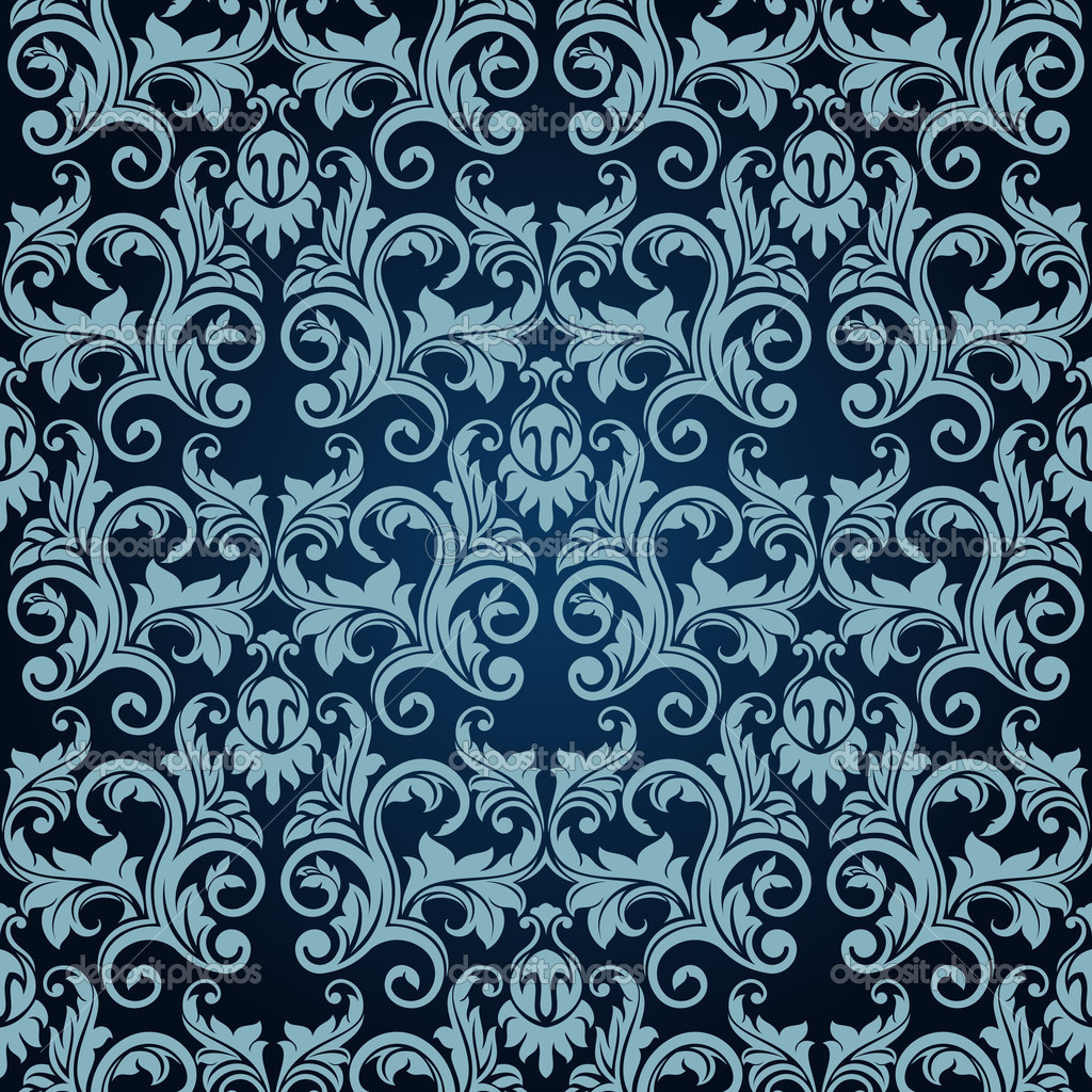 Victorian Wallpaper Pattern Blue Hawaii Dermatology 1024x1024