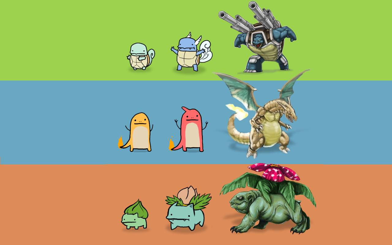 Pokemon Mega Evolutions Wallpaper 1280x800