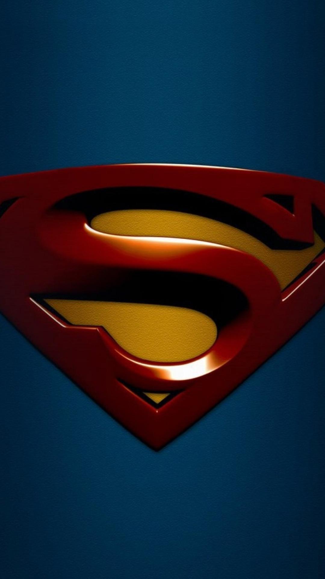 HD Background Superman Logo Blue Red S Wallpaper WallpapersByte 1080x1920