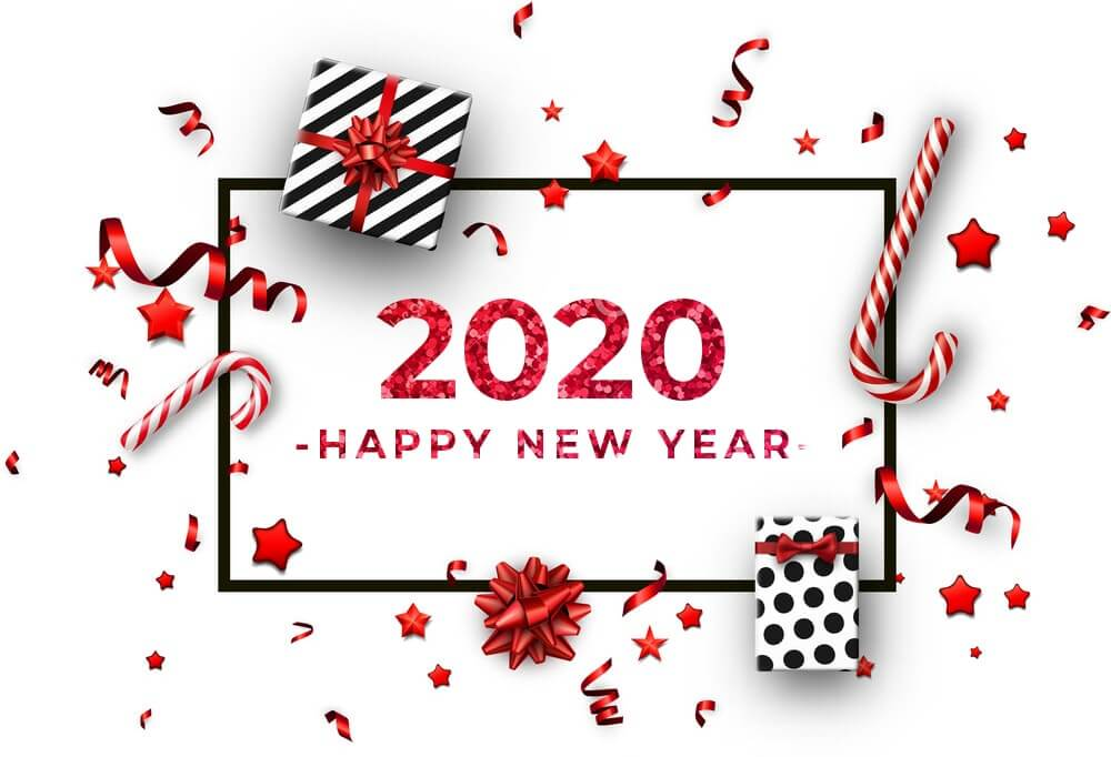 Happy New Year 2020 Desktop Wallpapers   Happy New Year 2020 1000x682