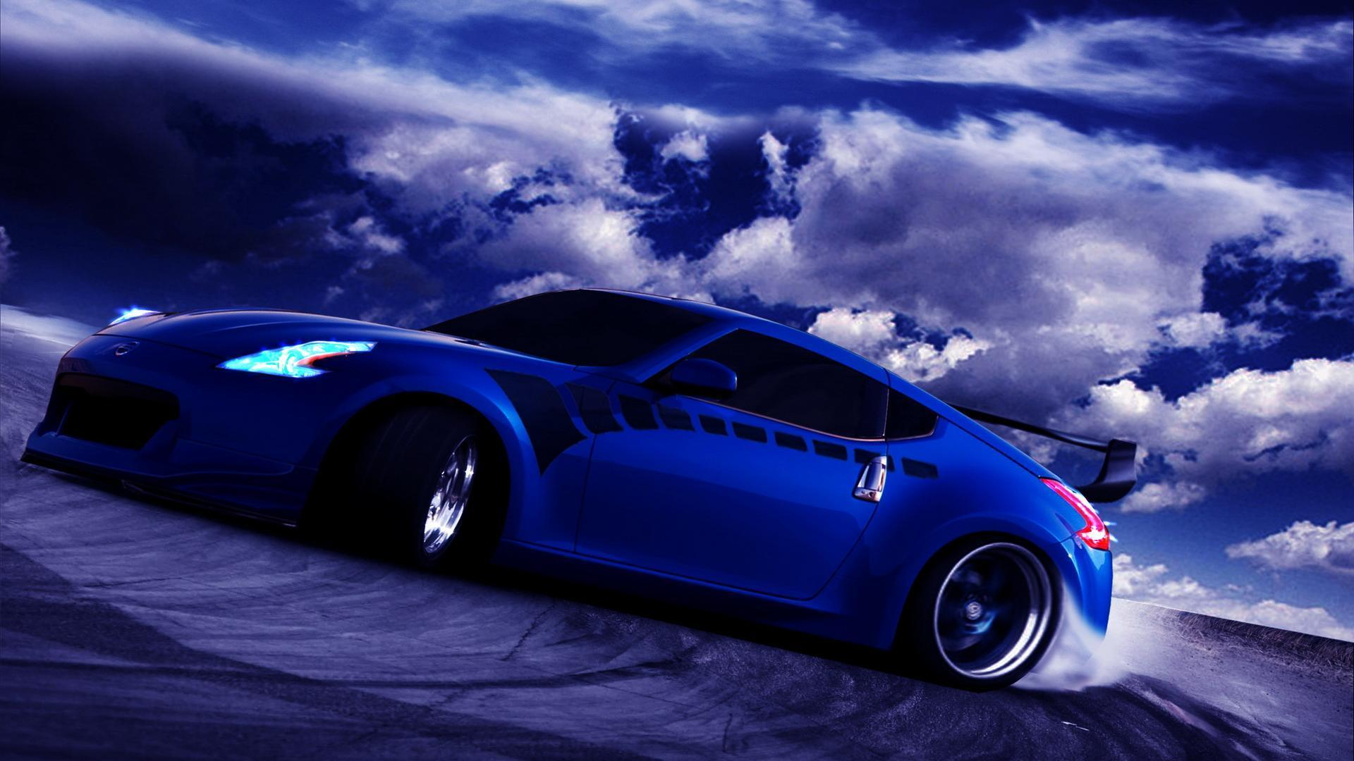 Blue Car Wallpapers 1920x1080