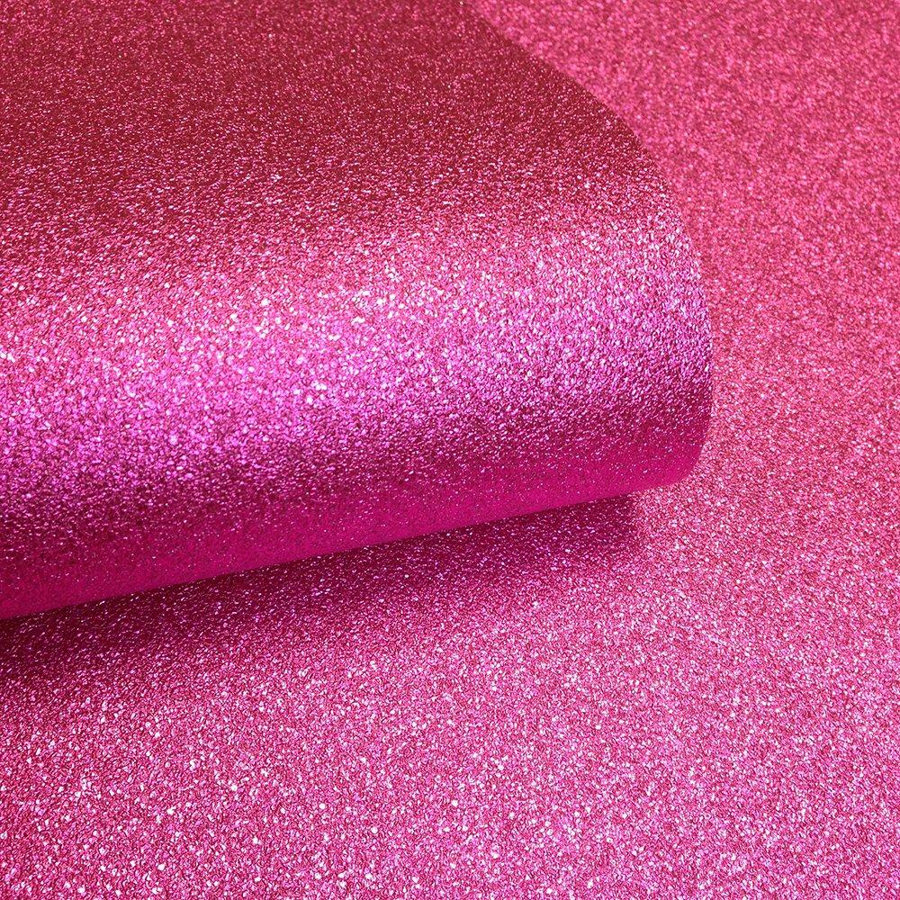 Love Wallpaper Glamour Real Glitter Wallpaper Hot Pink GLAM356 1000x1000