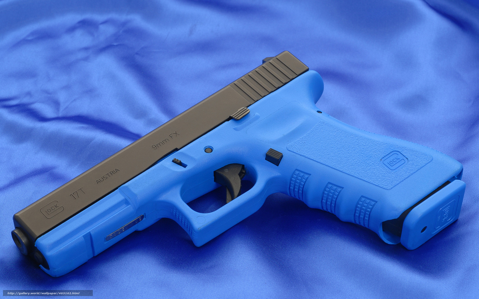 Free download Download wallpaper Glock gun blue wallpaper