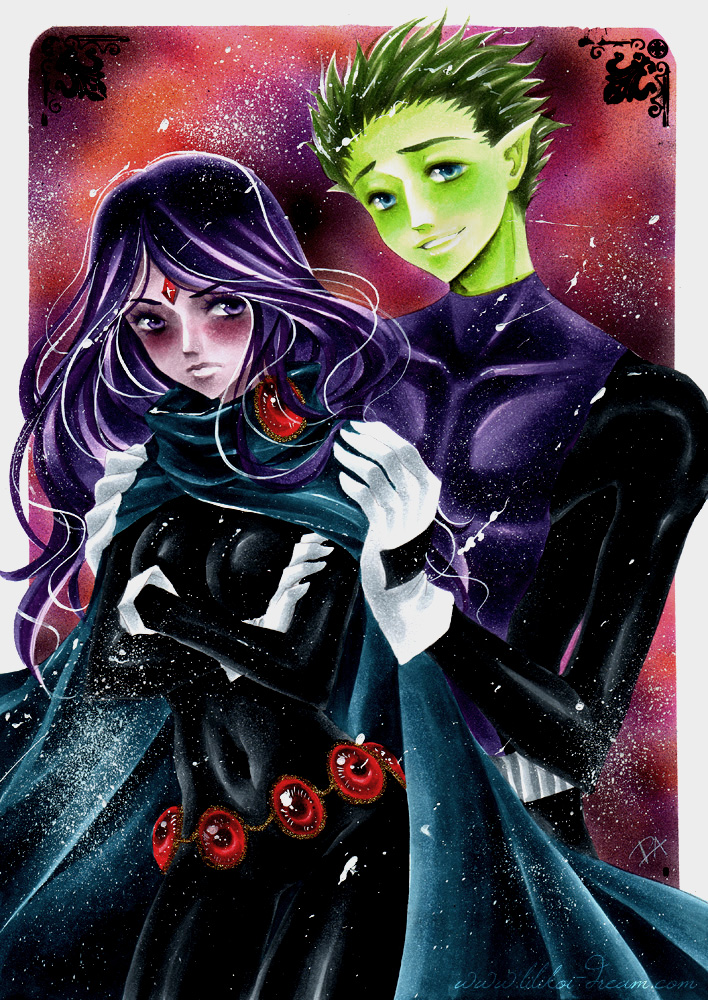 Teen Titans couples images Beast Boy x Raven HD wallpaper and 708x1000