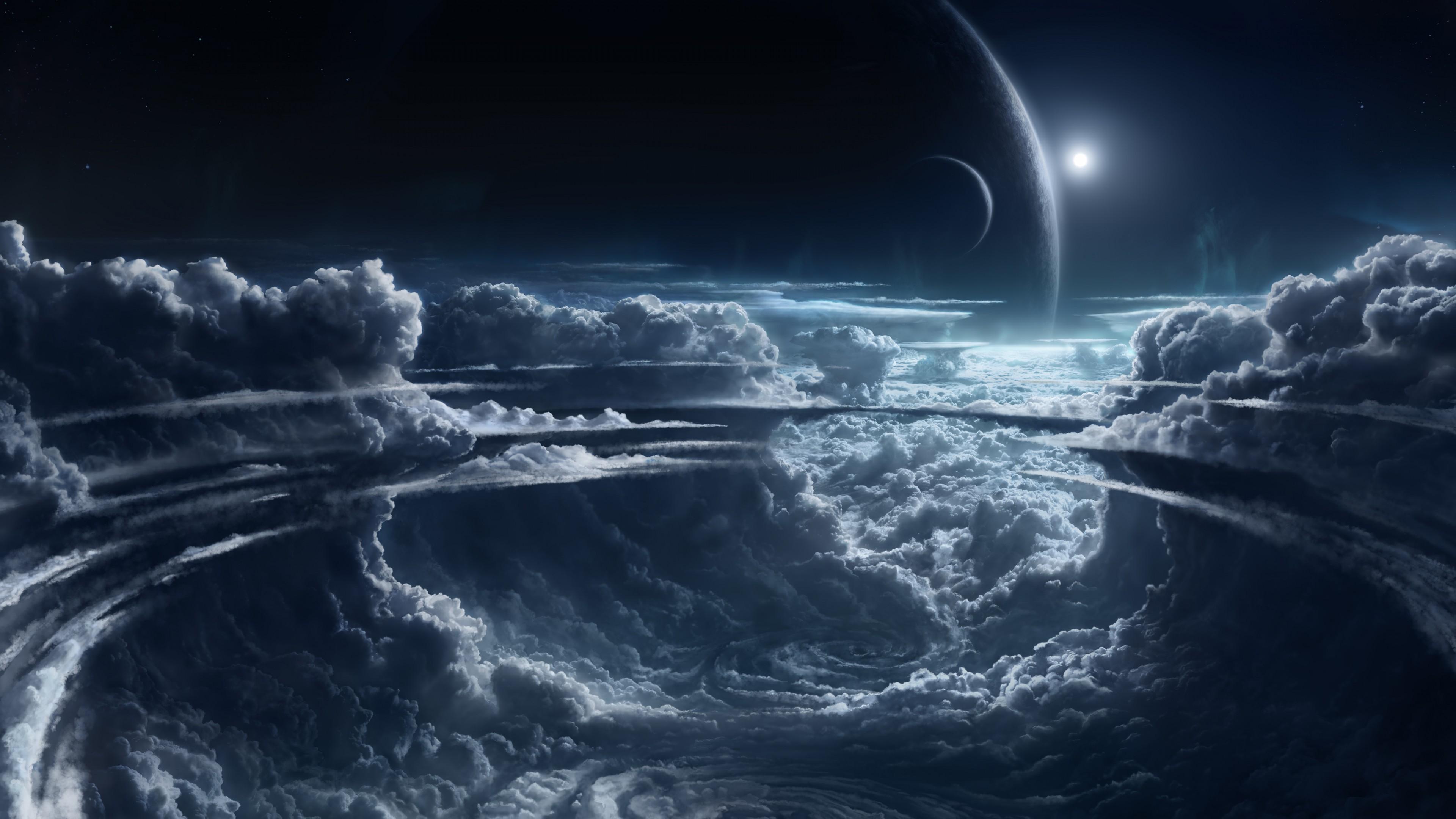 Wallpaper Sky 5k 4k wallpaper clouds planet light atmosphere 3840x2160