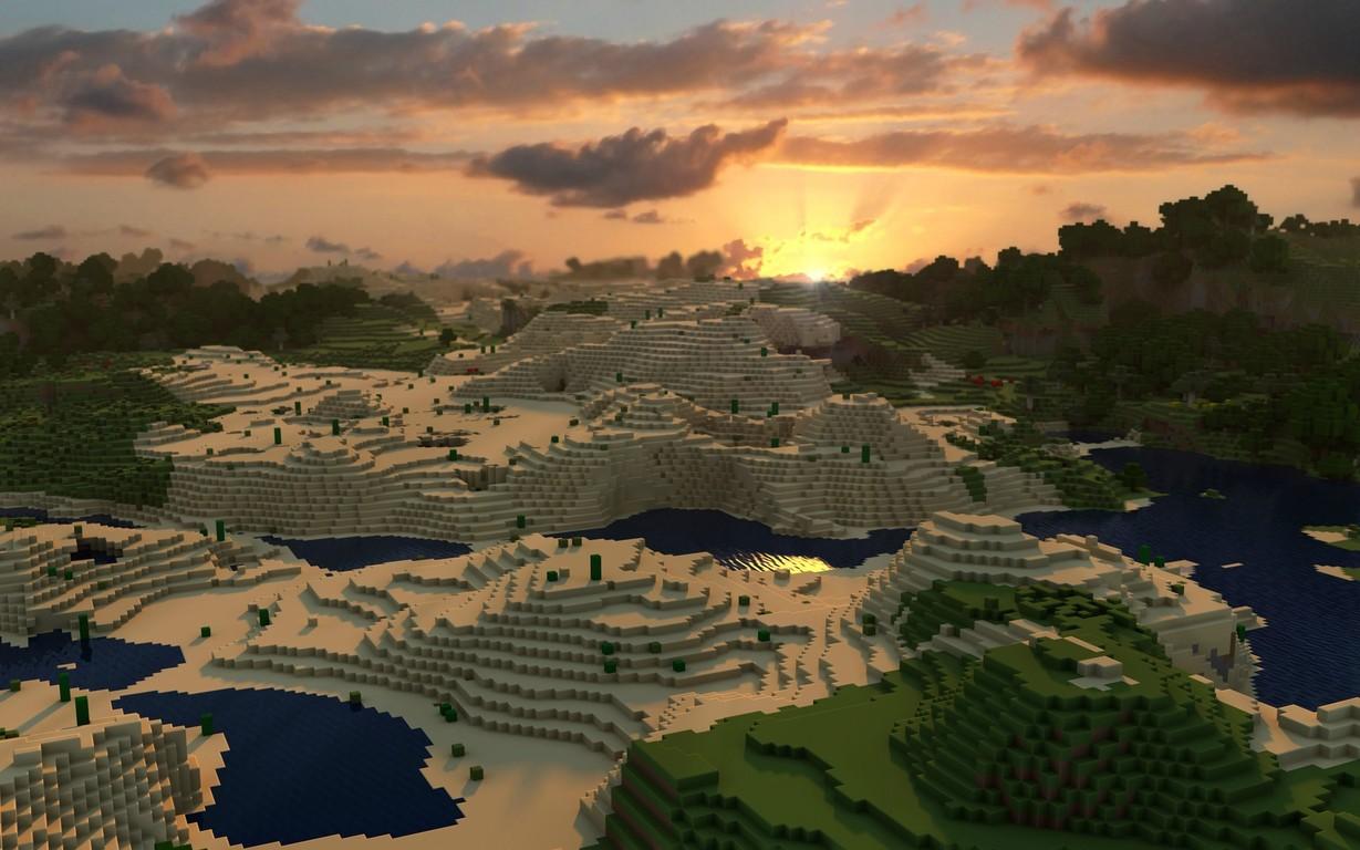 44 Minecraft World Wallpaper On Wallpapersafari