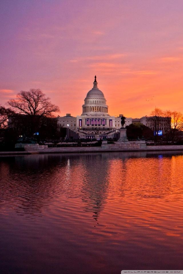 United States Capitol Washington DC 4K HD Desktop Wallpaper 640x960