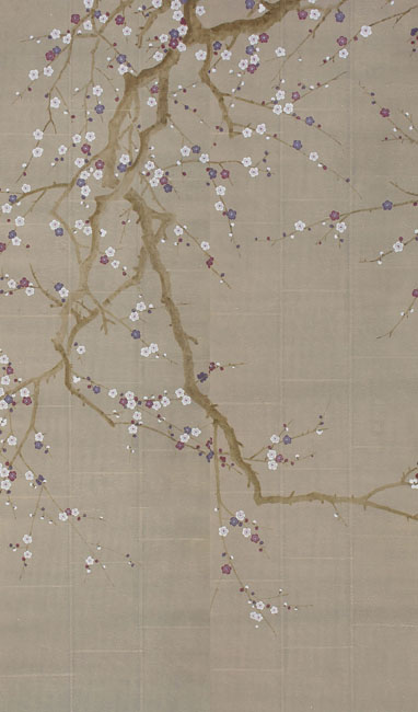 hand painted wall paper 382x650
