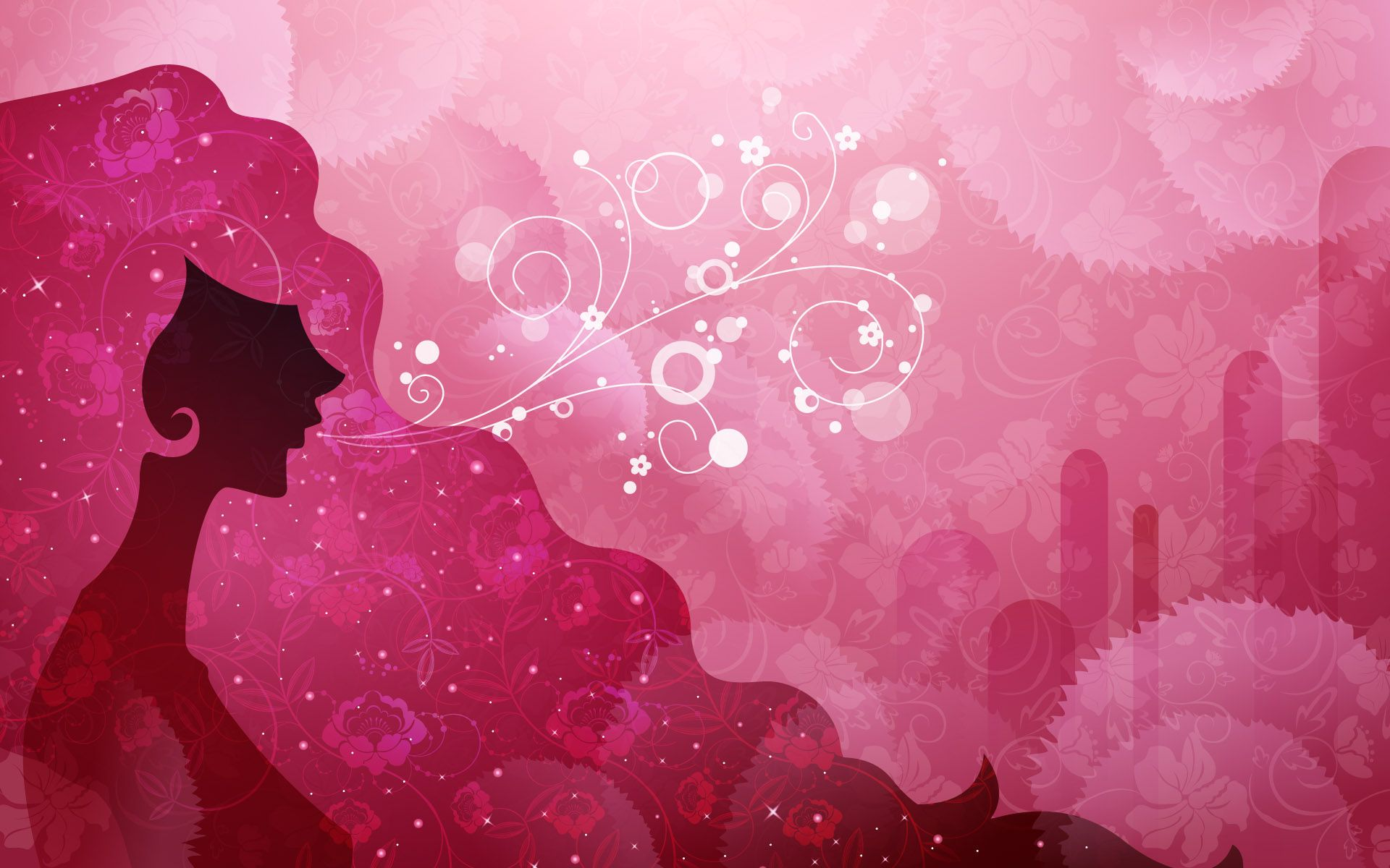 Pink Background Wallpaper Vector Art 1920x1200