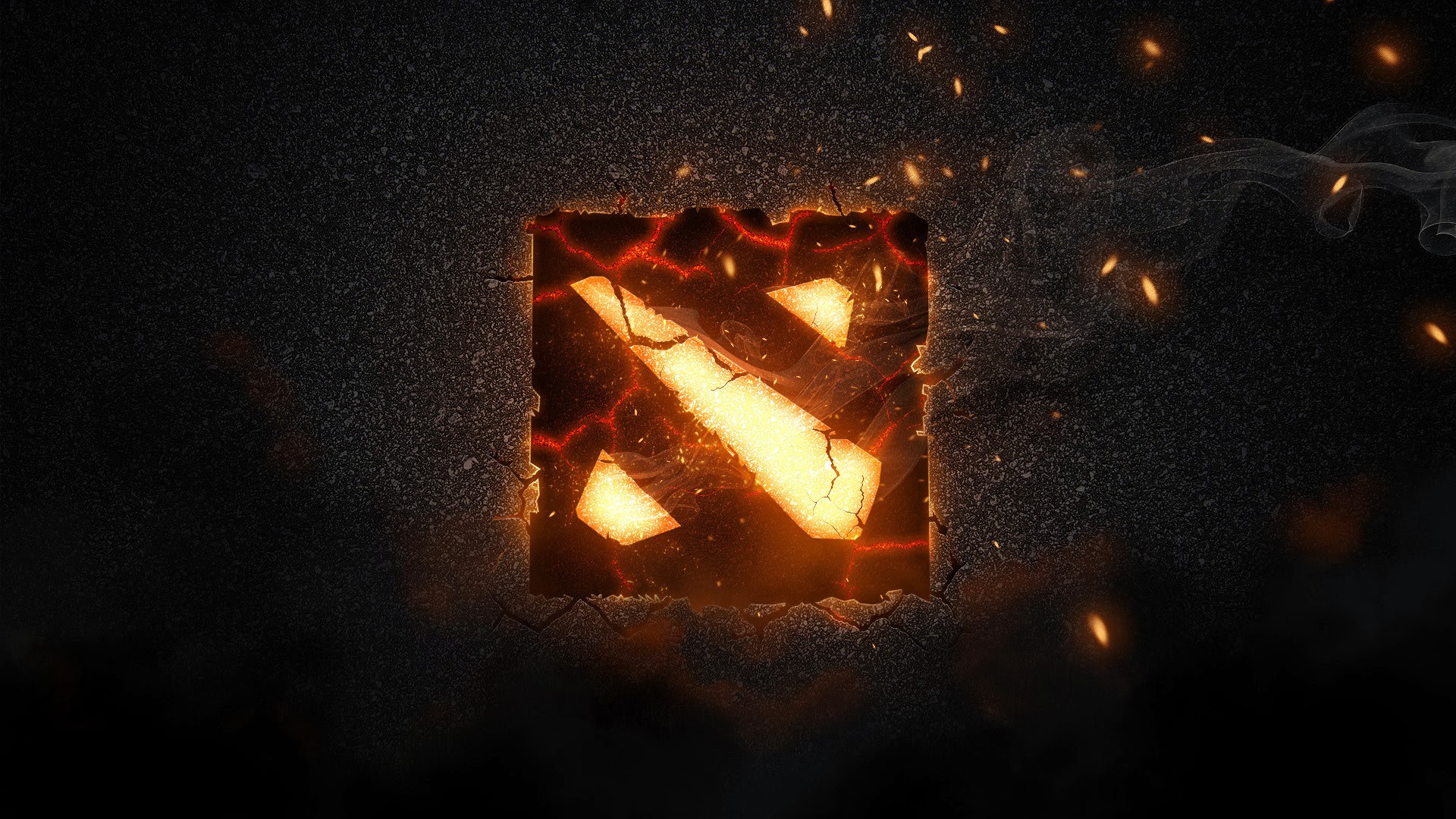 dota 2 logo flaming hd wallpaper game 1920x1080 a587 1920x1080