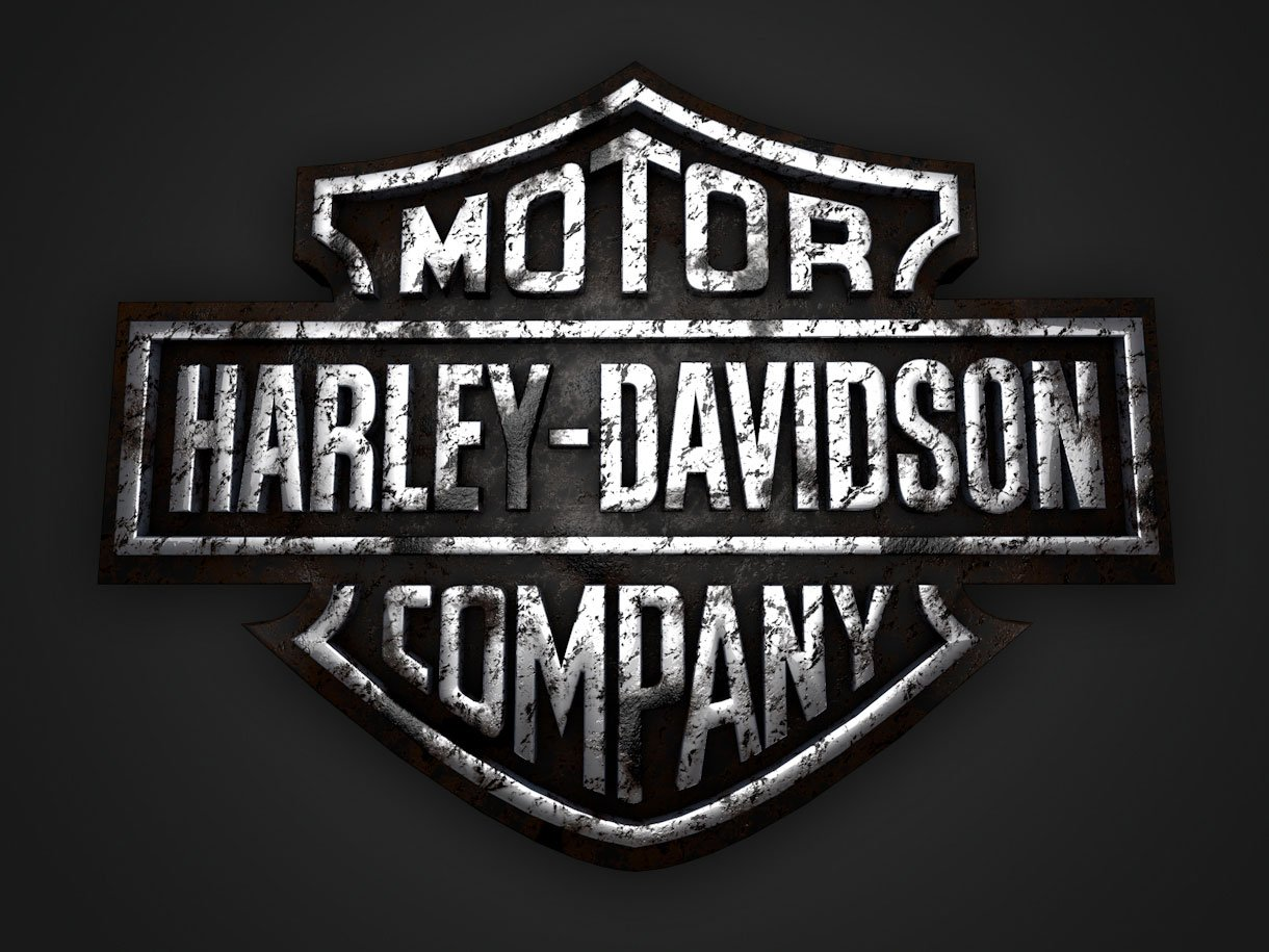 harley 3d logo dirty 1220x915