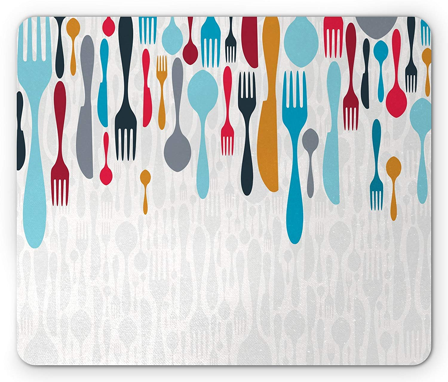Amazoncom Colorful Mouse Pad Colorful Cutlery Background 1500x1280