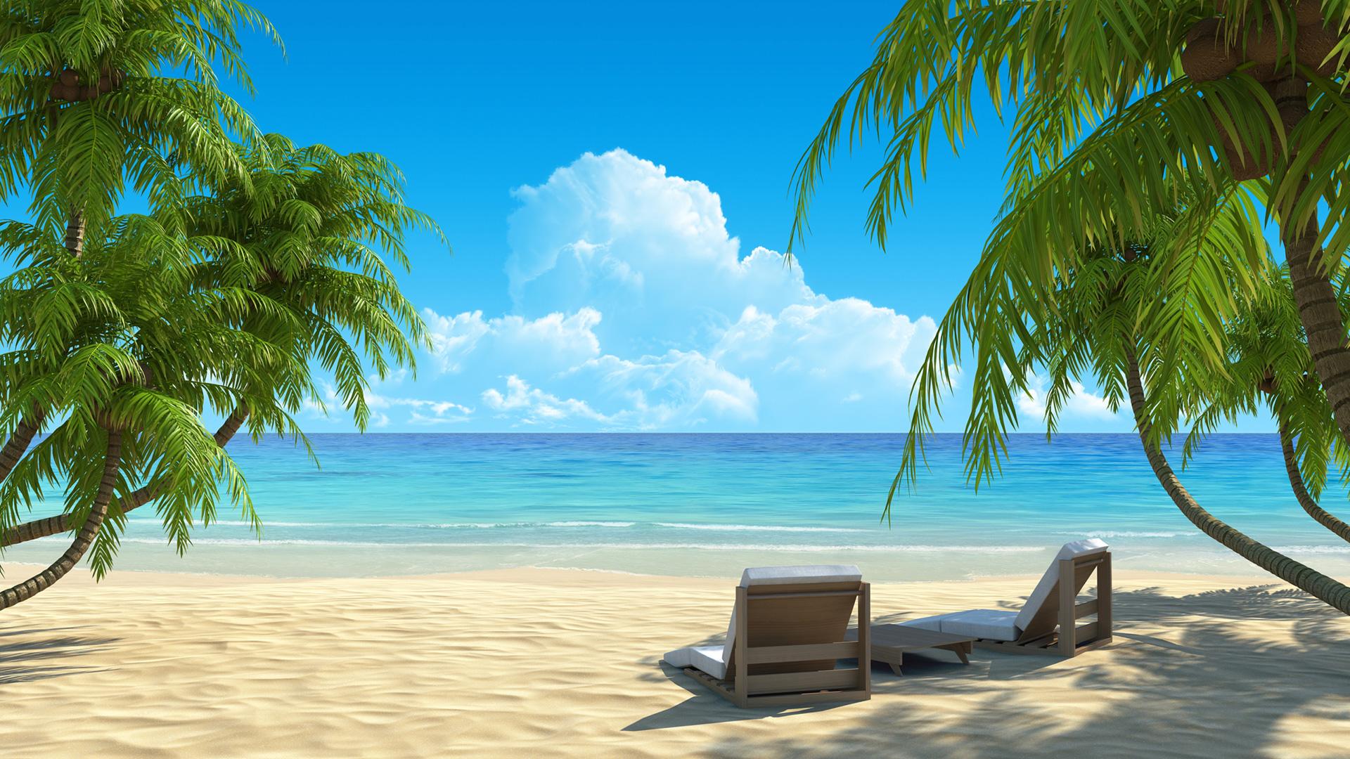 Tropical Paradise Wallpaper High Resolution: Beach Paradise Wallpaper