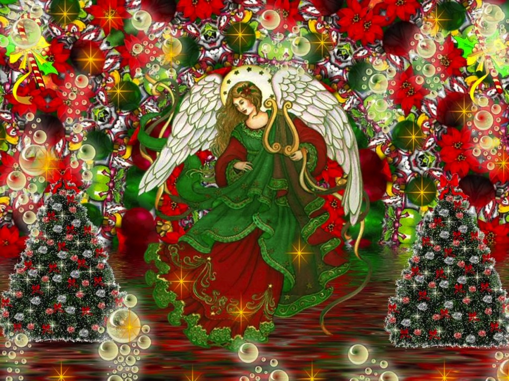 Christmas Angel wallpaper   Angels Wallpaper 33006993 1024x768