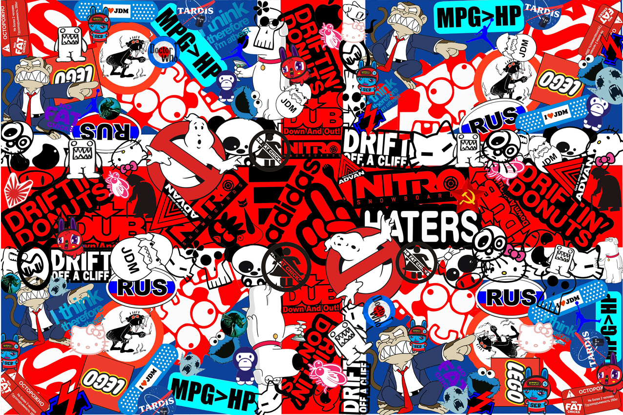 Images of sticker bombing stickerbombing bomb jdm wallpaper 1276x850