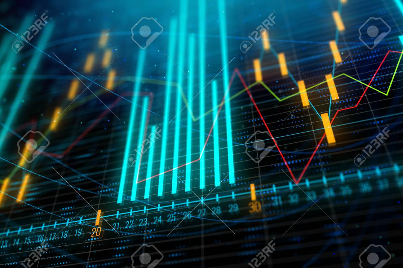 Analysis Statistics And Finance Concept Abstract Glowing Forex 1300x866