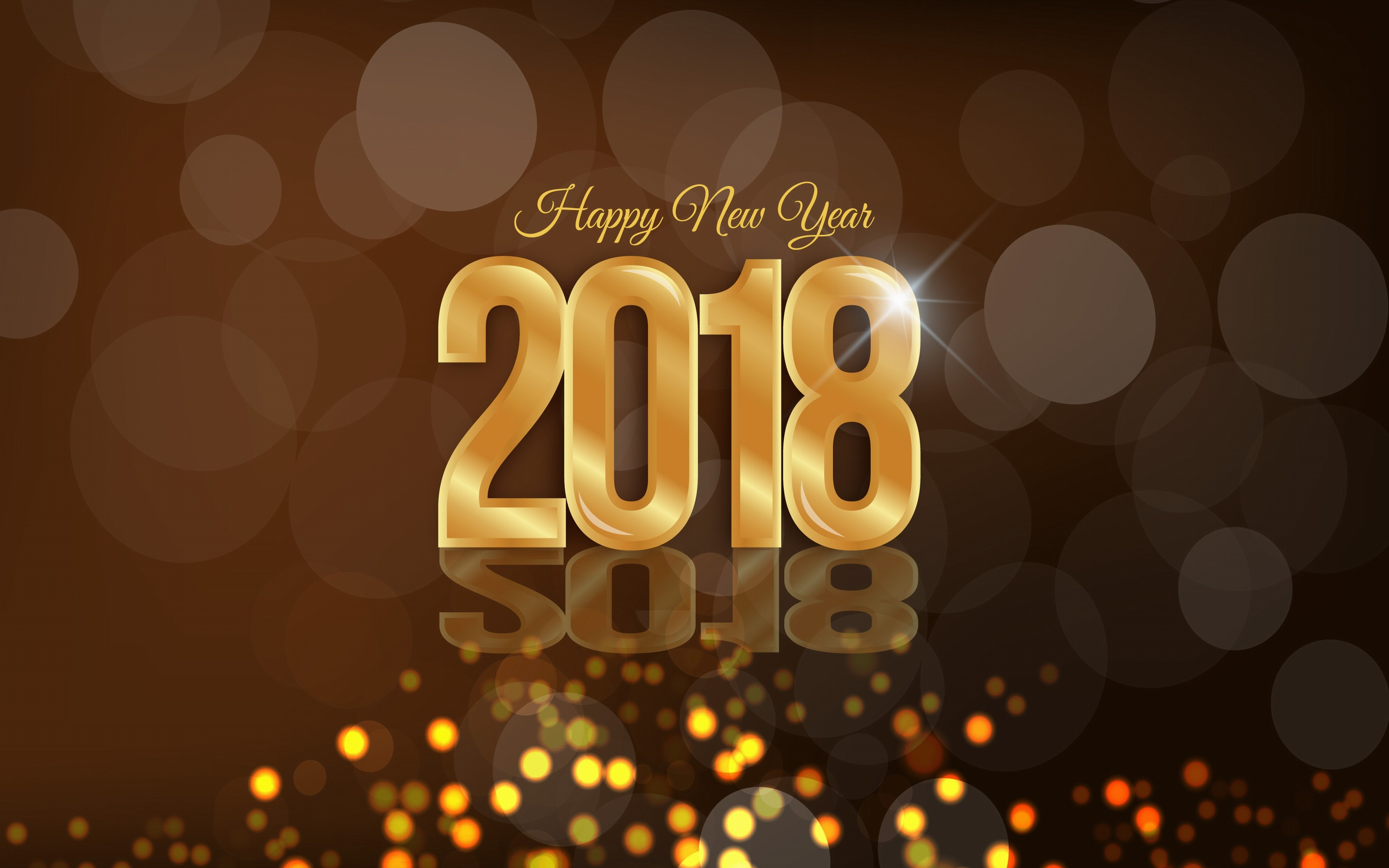 happy new year 2018 wallpaper 4k hd download for desktop 3840x2400