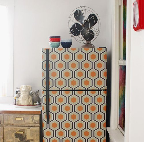 Decorating ideas using wallpaper How About Orange 500x491