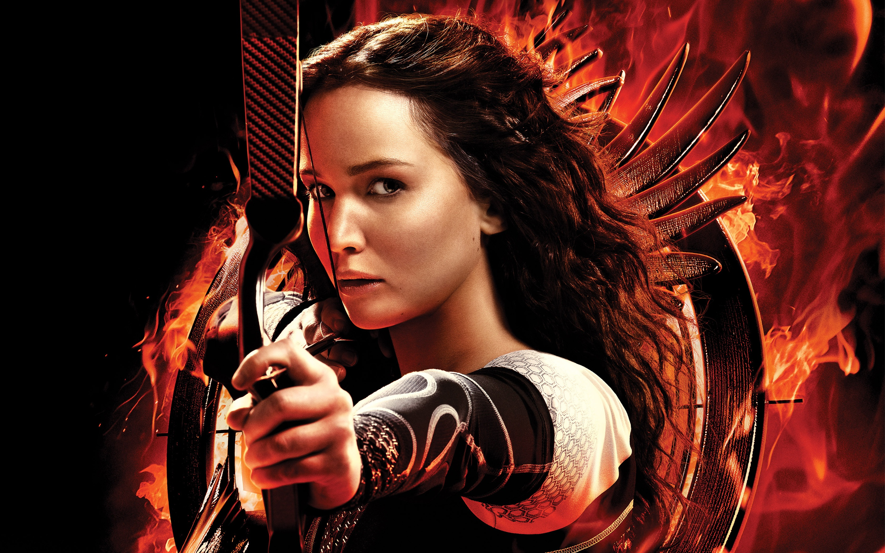 Katniss Jennifer Lawrence Wallpapers in jpg format for download 2880x1800