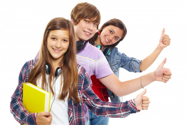Young people in row with thumbs up Photo Download 626x417