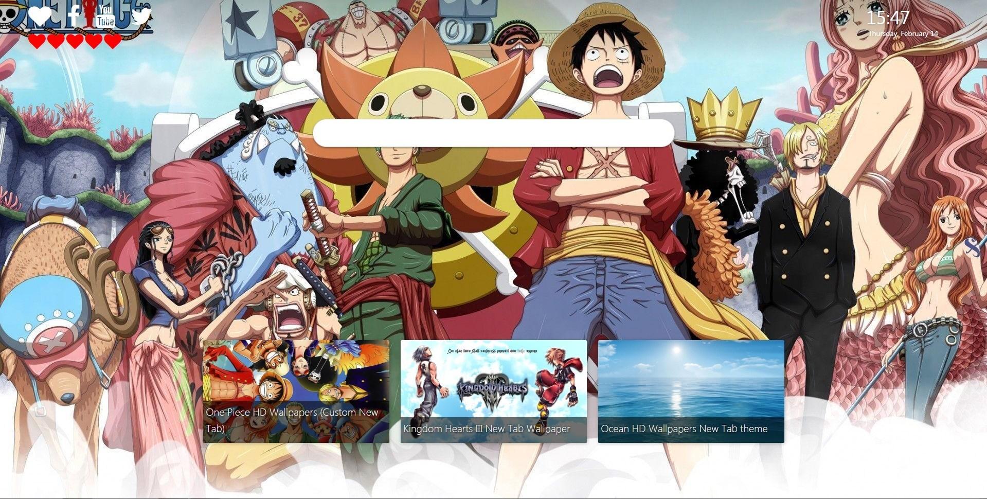 One Piece HD Wallpapers Custom New Tab   New Tabsy 1919x970