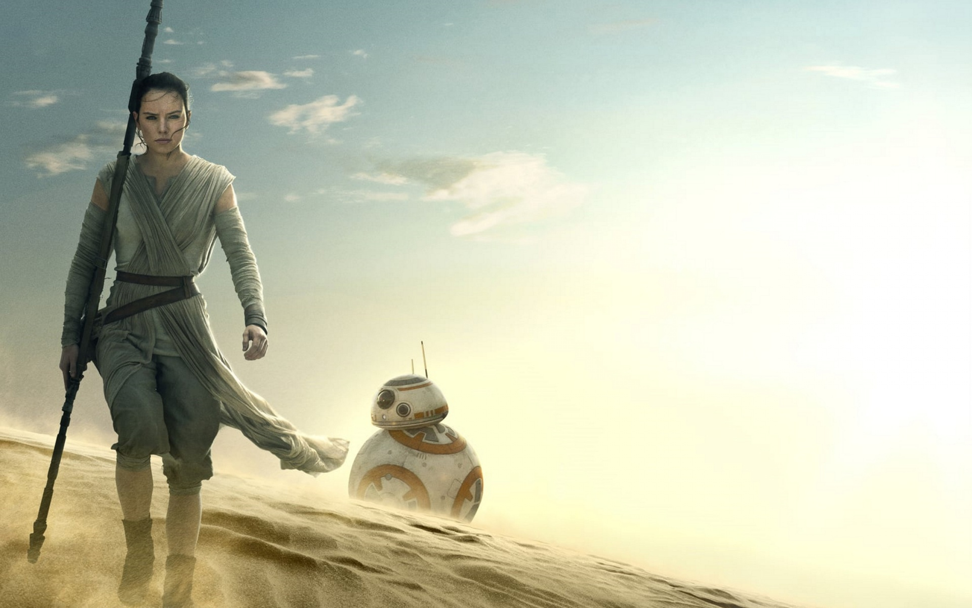 Star Wars The Force Awakens Rey BB 8 Wallpapers HD Wallpapers 1920x1200