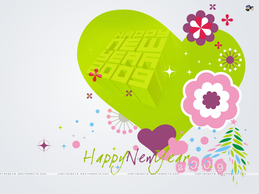 New Year Wallpapers New Year Love Wallpapers Happy New Year My Love 1024x768