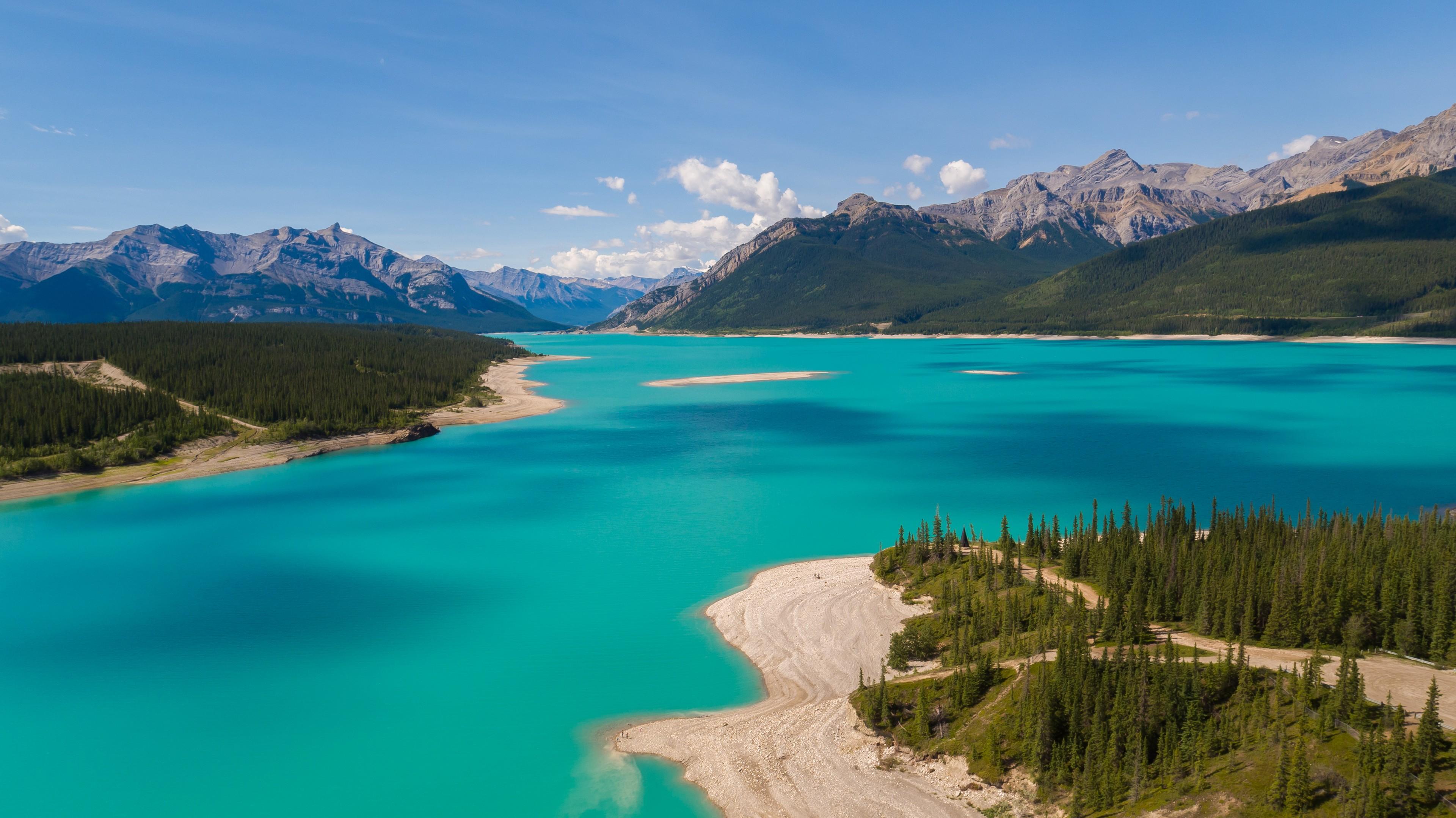 Wallpaper Abraham Lake Canada mountain nature 4k Nature 15452 3840x2160